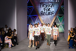 Jordan Barrett, Casey Spooner walks the runway at Fashion For Relief Cannes 2018 at Aeroport Cannes Mandelieu during the 71st annual Cannes Film Festival on May 13, 2018 in Cannes, France. Photo by Nasser Berzane/ABACAPRESS.COM