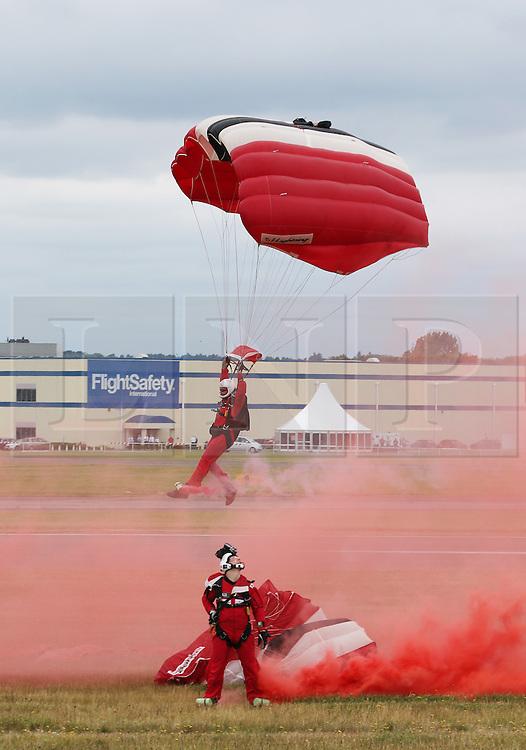 Red Devils Freefall Team, Farnborough International Airshow, London Farnborough Airport UK, 15 July 2016, Photo by Richard Goldschmidt