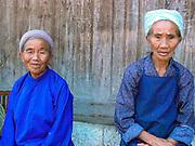 Old women near Duyun, Guizhou Province, China.