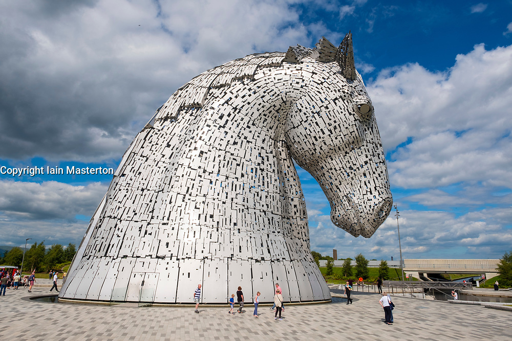 The Kelpies sculptures in Helix Park, Falkirk, Scotland, United Kingdom.