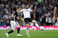 DERBY, ENGLAND - MAY 11: - DCFC vs Fulham. Bradley Johnson, plays the ball forward