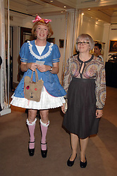 Left to right, artist GRAYSON PERRY and his wife PHILLIPPA at the Sotheby's Summer Party 2007 at their showrooms in New Bond Street, London on 4th June 2007.<br /><br />NON EXCLUSIVE - WORLD RIGHTS