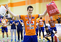 Jan Kozamernik of ACH after the volleyball match between ACH Volley   and Salonit Anhovo in Final of Slovenian Cup 2014/15, on January 17, 2015 in Sempeter, Slovenia. Photo by Vid Ponikvar / Sportida
