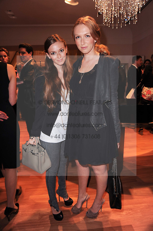 Left to right, LEORA KAPLAN and FRIEDA KAPLAN at a party to celebrate the B.zero 1 design by Anish Kapoor held at Bulgari, 168 New Bond Street, London n 2nd June 2010.