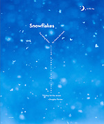 Macro image of snow falling in wintertime, published in a National Geographic Book of Nature Poetry.