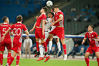 ATHENS, GREECE - OCTOBER 11: Action during the UEFA Nations League group stage match between Greece and Moldova at OACA Spyros Louis on October 11, 2020 in Athens, Greece. (Photo by MB Media)