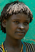 Themay Girl, Themay Tribe Village, Omo Valley, Ethiopia, portrait, person, one, tribes, tribal, indigenous, peoples, Southern, ethnic, rural, local, traditional, culture, primitive,