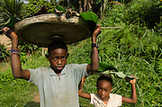 Door to door bushmeat seller<br /> Mbomo Village<br /> Odzala - Kokoua National Park<br /> Republic of Congo (Congo - Brazzaville)<br /> AFRICA