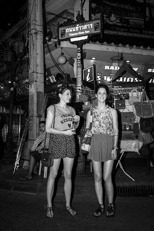 Travelers on Khao San Road in Bangkok, Thailand (November 19, 2011)