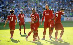 Georginio Wijnaldum of Liverpool scores a goal making it 0-1- Mandatory by-line: Nizaam Jones/JMP - 21/04/2019 -  FOOTBALL - Cardiff City Stadium - Cardiff, Wales -  Cardiff City v Liverpool - Premier League