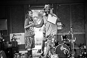 LIGNUM, VA -- 7/23/16 -- Mustafa congratulates a young Mustock attendee for his grades. <br /> Mustock is a private music festival hosted by DC based musician, Mustafa Akbar. Now in it's 17th year, the event started as a fish-fry with Mustafa's mother when she was still living. Originally open to family and close friends, the event has grown steadily, and drew roughly 300 people over the weekend.…by André Chung #_AC14235