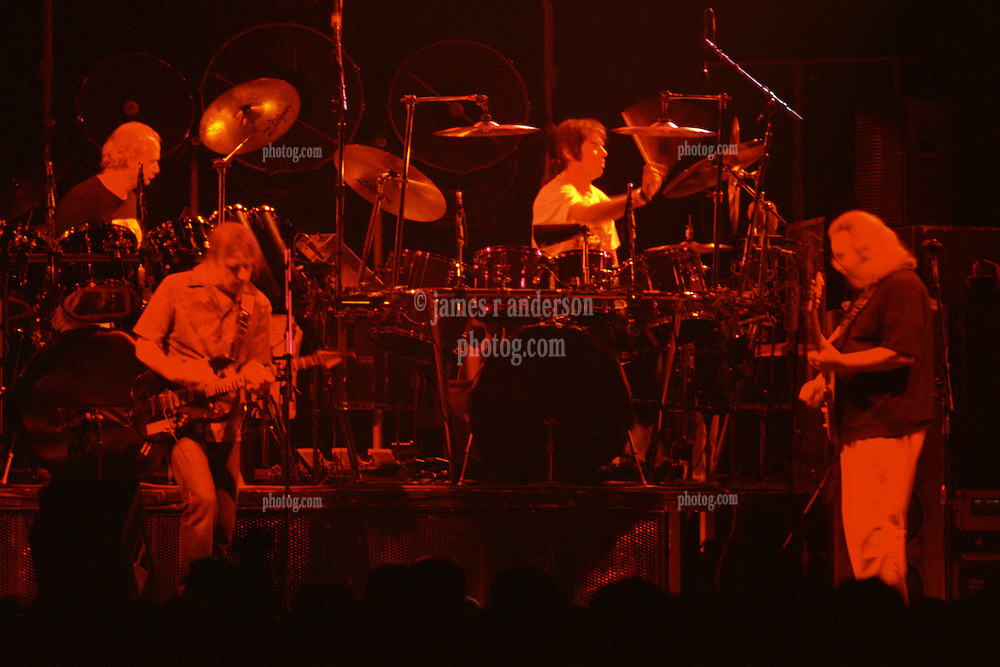 """Billy, Bobby, Mickey & Jerry performing with The Grateful Dead Live at The Hampton Coliseum on 9 October 1989. One of the """"Formerly The Warlocks"""" concerts. Limited Edition Photographic Prints available for purchase in Cart."""