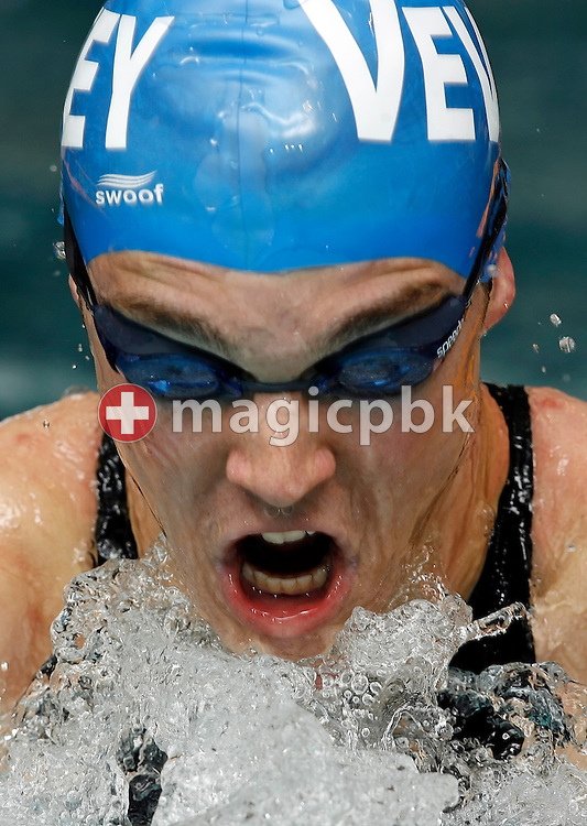 Benjamin Le Maguet of Switzerland competes in the men's 100m breaststroke heats in the Hallenbad Oerlikon at the Swimming Swiss Championships in Zurich, Switzerland, Friday 11 May 2007. (Photo by Patrick B. Kraemer / MAGICPBK)