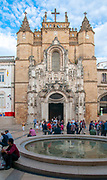 exterior of the Santa Cruz Monastery in Coimbra, Portugal, founded in 1131