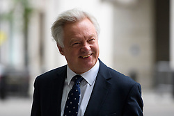 © Licensed to London News Pictures. 10/07/2016. London, UK. Conservative MP DAVID DAVIS arrives at the BBC Broadcasting House in London to appear on the Andrew Marr Show on July 10, 2016.  Photo credit: Ben Cawthra/LNP