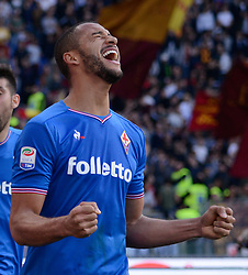 April 7, 2018 - Rome, Italy - Victor Hugo celebrates during the Italian Serie A football match between A.S. Roma and ACF Fiorentina at the Olympic Stadium in Rome, on april 07, 2018. (Credit Image: © Silvia Lore/NurPhoto via ZUMA Press)