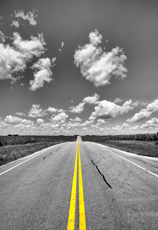 The lines will guide you on your journey, just keep your eyes on the road!