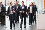 © Licensed to London News Pictures. 14/03/2015. Liverpool, UK. Deputy Prime Minister and Leader of the Liberal Democrats Nick Clegg arrives at the conference centre. The Liberal Democrat Spring Conference in Liverpool 14th March 2015. Photo credit : Stephen Simpson/LNP