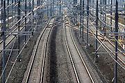 Nederland, Elst,  23-11-2006..De Betuwelijn. ..Op 1 januari moet de spoorlijn voor het goederentransport, goederenvervoer, in bedrijf gaan. De aansluiting op Duitsland is een probleem...Foto: Flip Franssen/Hollandse Hoogte