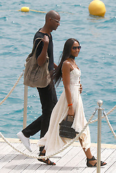 Antibes, 21st of May, 2017<br /> Naomi Campbell with a unidentified companion leaves the Eden Roc Hotel<br /> ABACAPRESS.COM