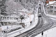 Snow in Nagoya city.