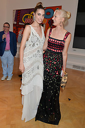 Left to right, AMBER LE BON and JOELY RICHARDSON at the annual Royal Academy of Art Summer Party held at Burlington House, Piccadilly, London on 4th June 2014.