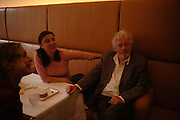 Allegra Donne and Hugh Hudson. Lunch party for Brooke Shields hosted by charles finch and Patrick Cox. Mortons. Berkeley Sq. 6 July 2005. ONE TIME USE ONLY - DO NOT ARCHIVE  © Copyright Photograph by Dafydd Jones 66 Stockwell Park Rd. London SW9 0DA Tel 020 7733 0108 www.dafjones.com