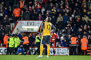 Arsenal Forward, Olivier Giroud (12) at the final whistle during the Premier League match between Bournemouth and Arsenal at the Vitality Stadium, Bournemouth, England on 3 January 2017. Photo by Adam Rivers.