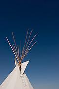 Vertical of tipi top at Yakima Indian Reservation<br />