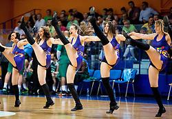 Cheerleaders of Helios Suns during 2nd Leg basketball match between KK Helios Suns and KK Zlatorog Lasko in Final of Nova KBM Champions League  2015/16, on May 31, 2016 in Hala Komunalnega centra, Domzale, Slovenia Photo by Vid Ponikvar / Sportida
