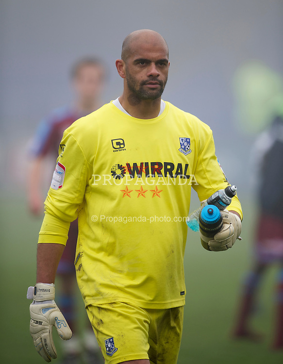 HARTLEPOOL, ENGLAND - Friday, April 22, 2011: Tranmere Rovers' goalkeeper Tony Warner during the Football League One match against Hartlepool United at Victoria Park. (Photo by David Rawcliffe/Propaganda)