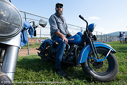 Big Ben Hudack at the Spirit of Sturgis races at the fairgrounds during the Sturgis Black Hills Motorcycle Rally. Sturgis, SD, USA. Monday, August 5, 2019. Photography ©2019 Michael Lichter.