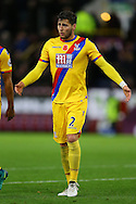 Joel Ward of Crystal Palace looking dejected at the end of the game. Premier League match, Burnley v Crystal Palace at Turf Moor in Burnley , Lancs on Saturday 5th November 2016.<br /> pic by Chris Stading, Andrew Orchard sports photography.