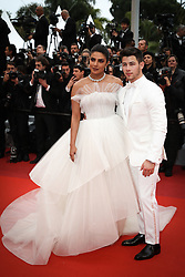 """Priyanka Chopra and Nick Jonas attend the screening of """"Les Plus Belles Annees D'Une Vie"""" during the 72nd annual Cannes Film Festival on May 18, 2019 in Cannes, France. Photo by Shootpix/ABACAPRESS.COM"""