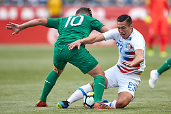 May 28, 2018 - Chester, PA, U.S. - CHESTER, PA - MAY 28: United States forward Rubio Rubin (23) battles with Bolivia midfielder Fernando Saucedo  (10) during the international friendly match between the United States and Bolivia at the Talen Energy Stadium on May 28, 2018 in Chester, Pennsylvania. (Photo by Robin Alam/Icon Sportswire) (Credit Image: © Robin Alam/Icon SMI via ZUMA Press)