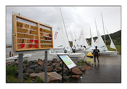 470 Class European Championships Largs - .Tally System on the Slipway.