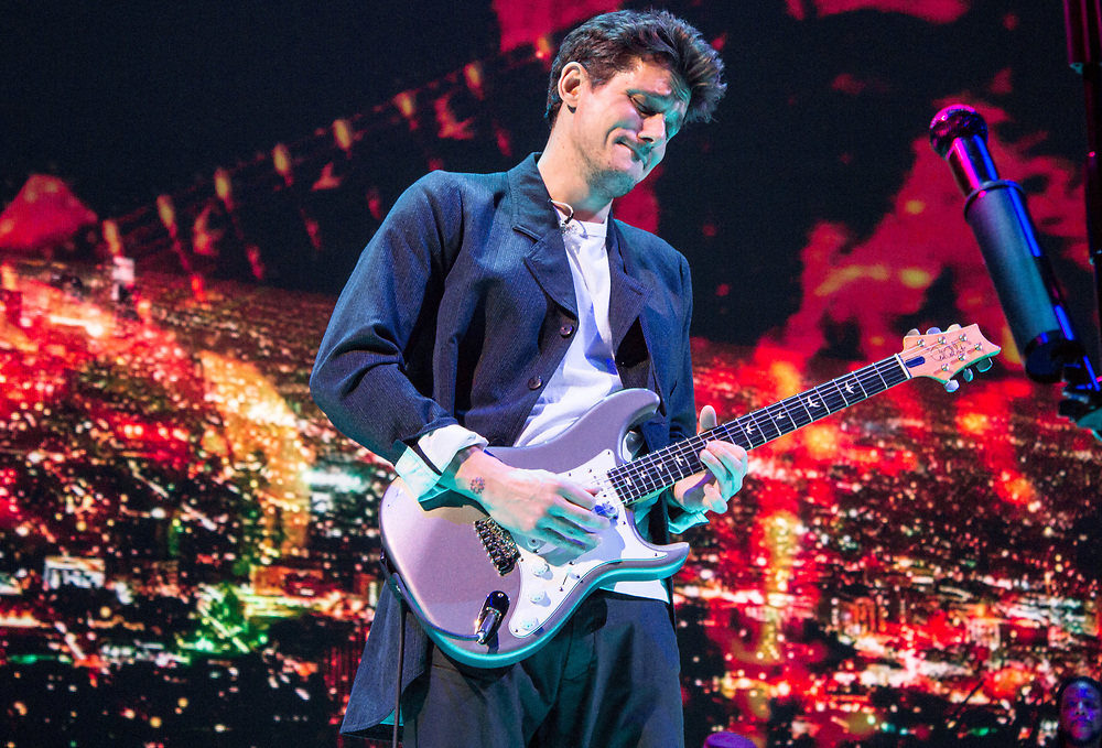 John Mayer performing at the United Center in Chicago, IL on April 11, 2017.