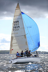 Peelport Clydeport, Largs Regatta Week 2014 Largs Sailing Club based at  Largs Yacht Haven with support from the Scottish Sailing Institute & Cumbrae. GBR7029, Farr e Nuff, John Kent, LSC/FYC, Farr 727