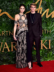 Kaia Gerber and Presley Gerber attending the Fashion Awards in association with Swarovski held at the Royal Albert Hall, Kensington Gore, London.