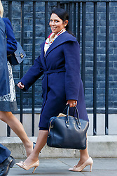 © Licensed to London News Pictures. 11/10/2016. London, UK. International Development Secretary PRITI PATEL attends a cabinet meeting in Downing Street on Tuesday, 11 October 2016. Photo credit: Tolga Akmen/LNP