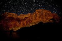 Night shot of the Grand Canyon. Grand Canyon National Park, AZ.