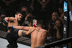 October 28, 2017 - Sao Paulo, Sao Paulo, Brazil - Oct, 2017 - Sao Paulo, Sao Paulo, Brazil - Fight between ANTONIO CARLOS JR (Cara de Sapato) and JACK MARSHMAN (The Hammer) during UFC Fight Night, at the Ibirapuera Gymnasium in Sao Paulo, this Saturday (28). CARLOS (in black) won. (Credit Image: © Marcelo Chello via ZUMA Wire)
