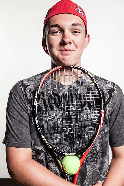 23 June 2012- Bryson Mosley, tennis player, is photographed at Minorwhite Studios for Omaha Magazine.
