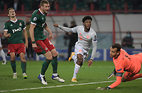 MOSCOW, RUSSIA - OCTOBER 27: Kingsley Coman of FC Bayern Muenchen during the UEFA Champions League Group A stage match between Lokomotiv Moskva and FC Bayern Muenchen at RZD Arena on October 27, 2020 in Moscow, Russia. (Photo by MB Media)