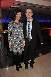 IAN & VICTORIA HISLOP at the Costa Book Awards 2010 held at Quaglino's, 16 Bury Street, London on 25th January 2011.