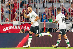 01.08.2017, Allianz Arena, Muenchen, GER, Audi Cup, FC Bayern Muenchen vs FC Liverpool, im Bild Jubel Marko Grujic (FC Liverpool), Philippe Coutinho (FC Liverpool) // during the Audi Cup Match between FC Bayern Munich and FC Liverpool at the Allianz Arena, Munich, Germany on 2017/08/01. EXPA Pictures © 2017, PhotoCredit: EXPA/ JFK