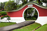 The Singapore Chinese Garden also commonly known as Jurong Gardens. The garden was built in 1975 and designed by Prof Yuen-chen Yu, a well-known architect from Taiwan.  The Chinese Garden's concept is based on Chinese gardening art. The main characteristic is the integration of architectural features with the natural environment. The Chinese Garden is modeled along the northern Chinese imperial style of architecture and landscaping.