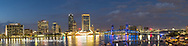63412-01020 St. Johns River and Jacksonville Florida skyline at twilight Jacksonville, FL