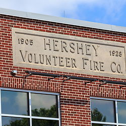 Hershey, PA / USA - May 21, 2018: The Hershey Volunteer Fire Department was established in 1905, according to a building sign.