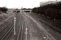 Togbane i Moskva.<br /> Foto: Svein Ove Ekornesvåg